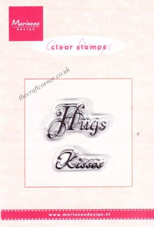 Hugs Kisses 2 Clear Rubber Stamps by Marianne Design